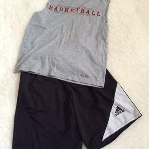 adidas Black Climalite shorts. Boys